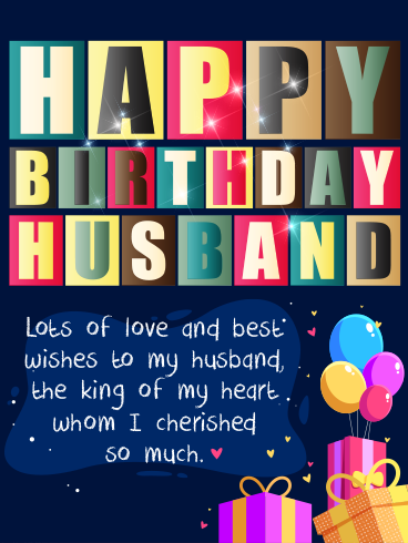 A Party With Love – HAPPY BIRTHDAY HUSBAND CARDS
