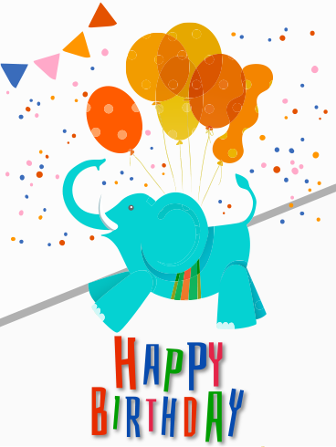 Happy Elephant – HAPPY BIRTHDAY NEWLY ADDED CARDS