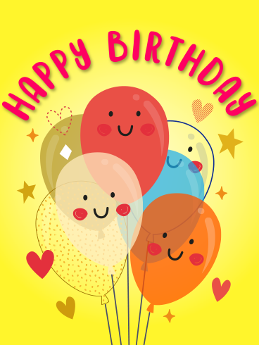 Smiling Balloons – HAPPY BIRTHDAY NEWLY ADDED CARDS