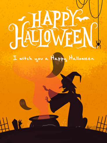 Witch, Please. –  Halloween Cards