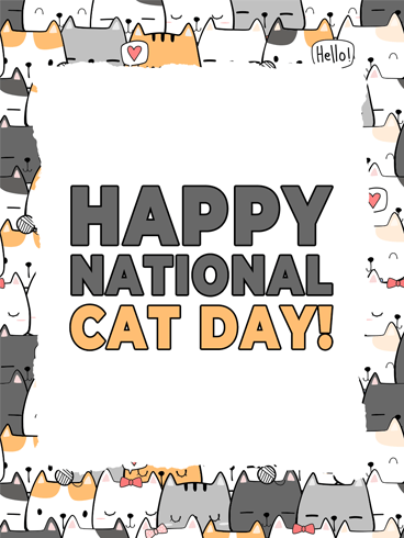 Cat Family –  National Cat Day Cards