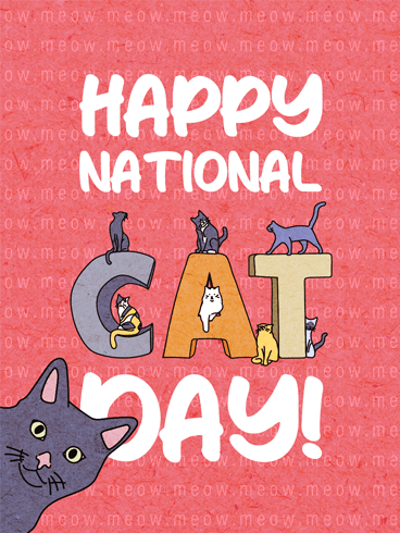 Cat Companionship –  National Cat Day Cards