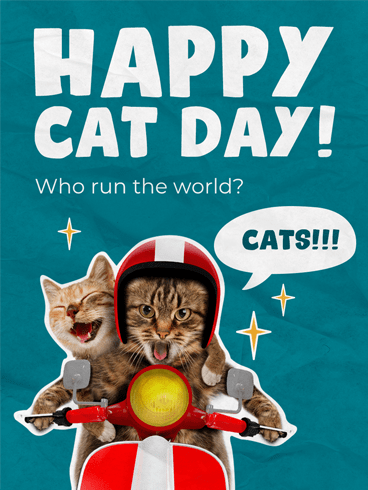 Purr-fect Troublemaker –  National Cat Day Cards