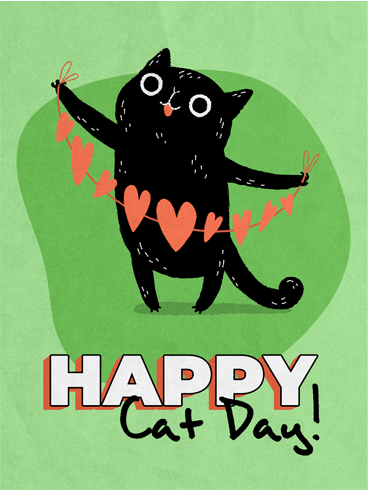 Love & Cat –  National Cat Day Cards