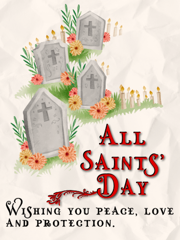 Peace, Love & Protection – ALL SAINTS' DAY CARDS