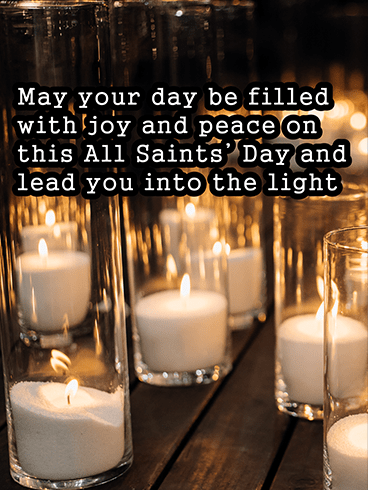 Rows of Lighted Candles– ALL SAINTS' DAY CARDS