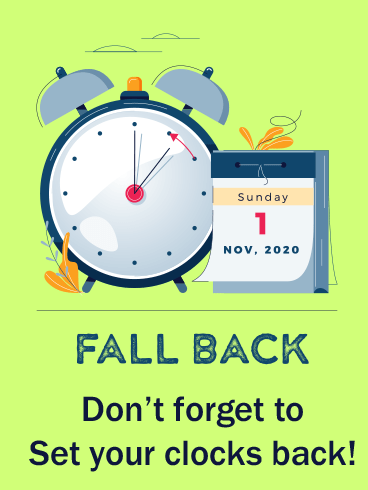 Clock & Calendar – DAYLIGHT SAVINGS TIME ENDS CARDS