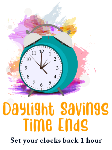 Jump Back – DAYLIGHT SAVINGS TIME ENDS CARDS