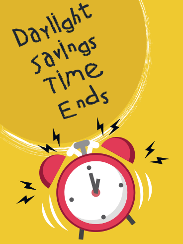Clock Ringing – DAYLIGHT SAVINGS TIME ENDS CARDS