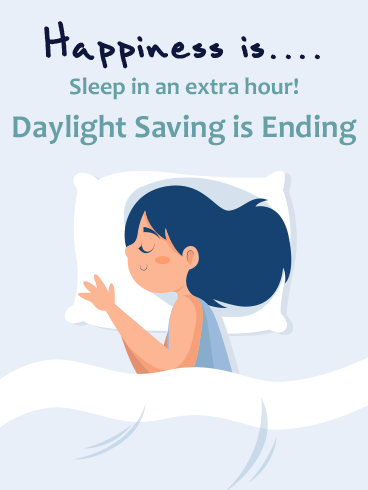 Sleeping Beauty – DAYLIGHT SAVINGS TIME ENDS CARDS