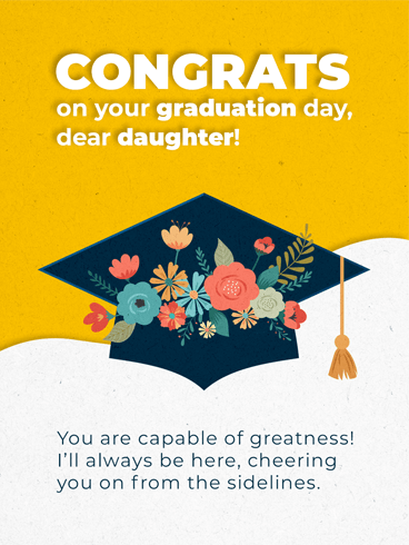 Flowery Mortarboard –  Graduation Cards