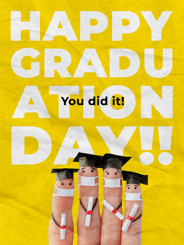 Four Fingers Graduating! –  Graduation Cards