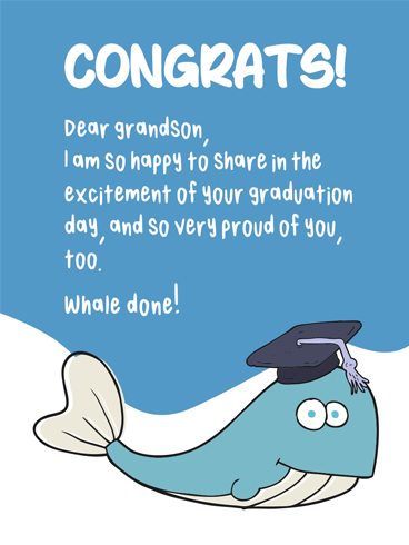 Whale Done! –  Graduation Cards