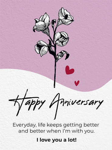 Flower For You –  Happy Anniversary Cards