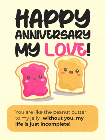 Peanut Butter Jelly –  Happy Anniversary Cards
