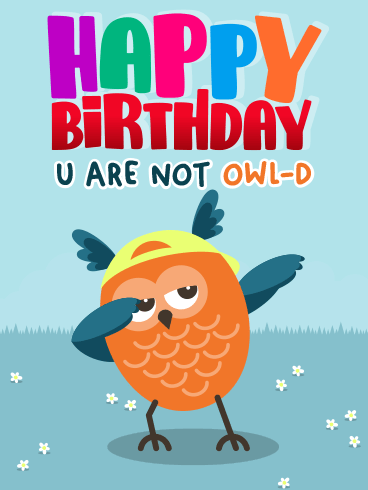 Not Owl-D – HAPPY BIRTHDAY NEWLY ADDED CARDS