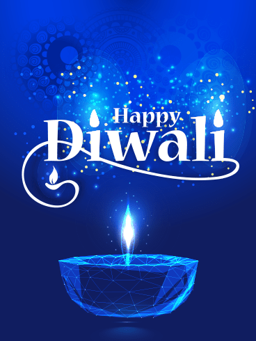 Blue Light – Diwali Cards