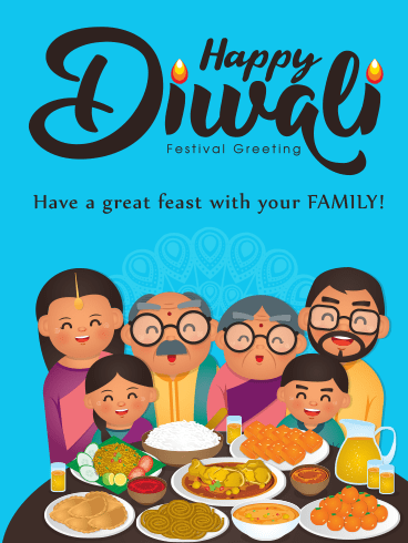 Family Feast – Diwali Cards