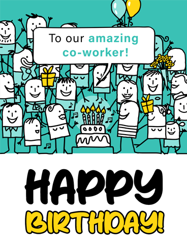 Amazing Colleague –  Birthday Cards for Co-Workers