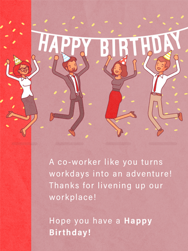 Office Party –  Birthday Cards for Co-Workers