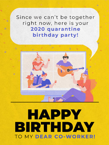 Virtual Celebration –  Birthday Cards for Co-Workers