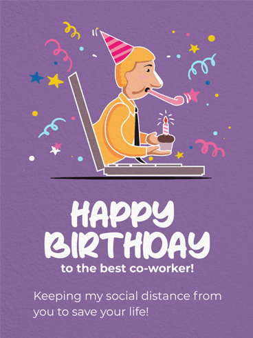 Distance Birthday –  Birthday Cards for Co-Workers