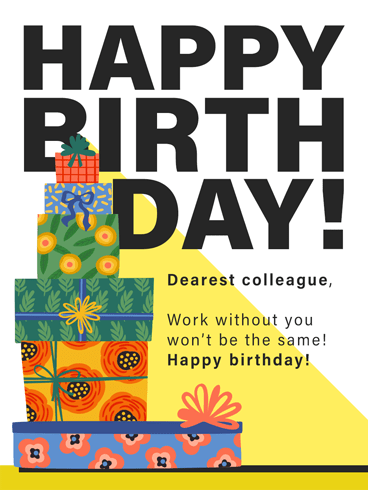Exiting & Fun –  Birthday Cards for Co-Workers