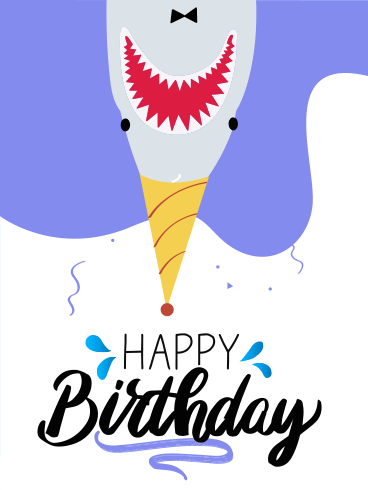 Shark Wanna Party – Happy Birthday Newly Added Cards