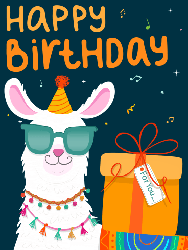 Cool Alpaca – Happy Birthday Newly Added Cards