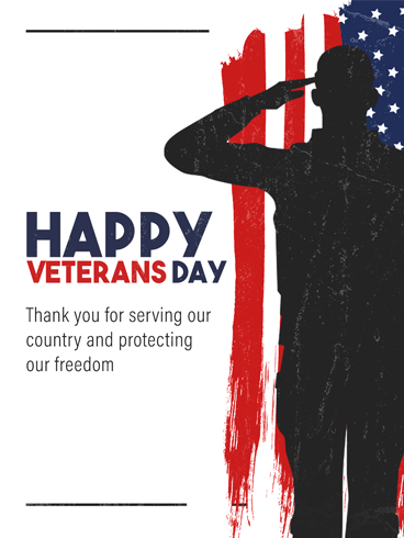 Salute Soldier – Veteran Day Cards