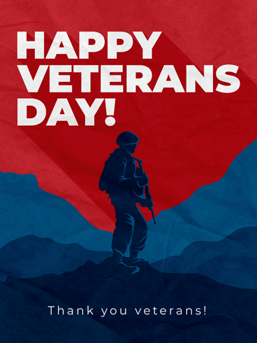 Standing Strong –  Veteran Day Cards