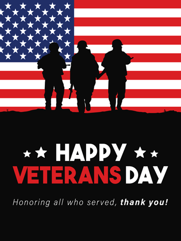 Veteran Soldier –  Veteran Day Cards
