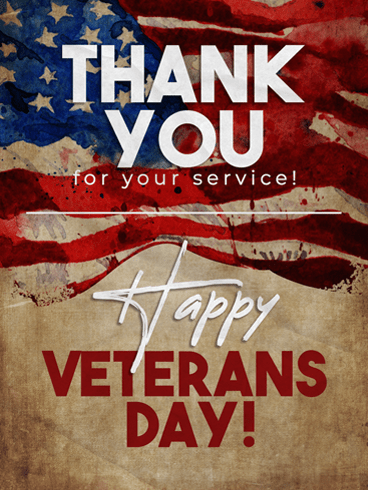 Brave Service –  Veteran Day Cards