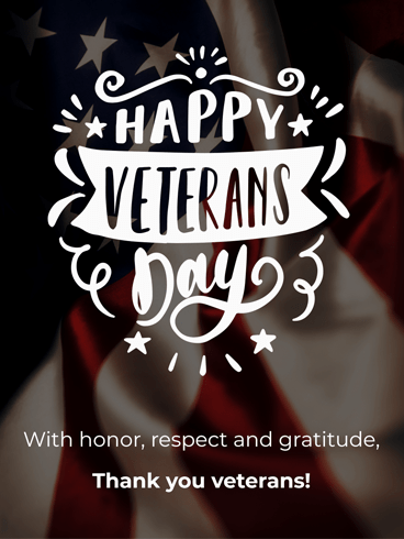 Gratitude For Veterans –  Veteran Day Cards