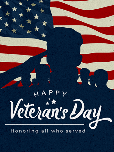 Flag & Salute –  Veteran Day Cards