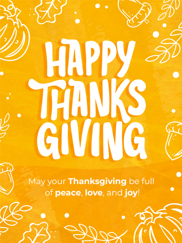 Togetherness & Gratitude –  Happy Thanksgiving Cards 2020