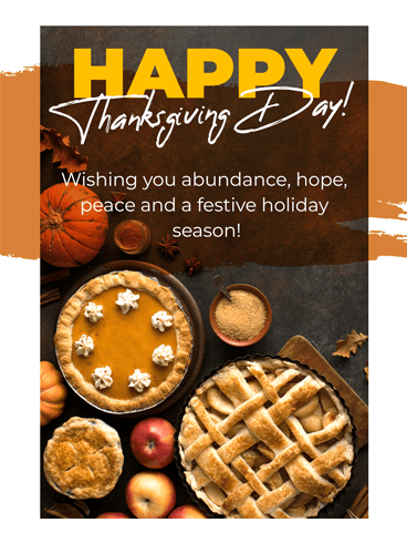 Thankful-Pie –  Happy Thanksgiving Cards 2020