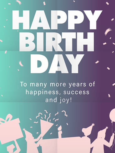 Cool Party! –  Newly Added Birthday Cards