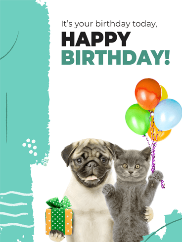 Pug & Paw –Tastic Birthday! –  Newly Added Birthday Cards