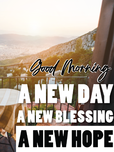 Blessing & Hope – Good Morning Cards