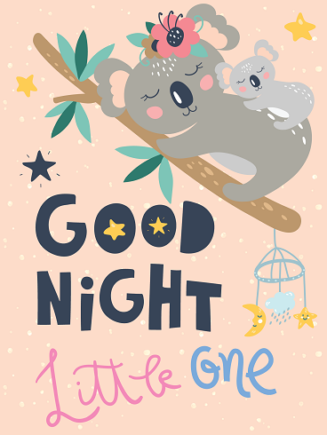 Hugging Koala – Good Night Cards