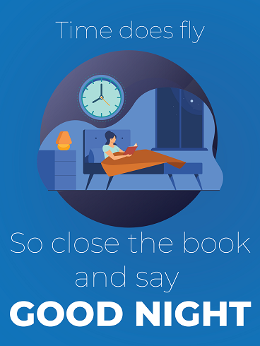 Close The Book – Good Night Cards