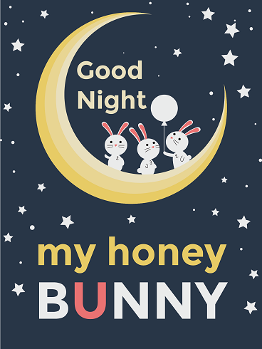 Rabbit On The Moon – Good Night Cards