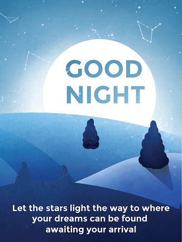 Moon Light The Forest – Good Night Cards