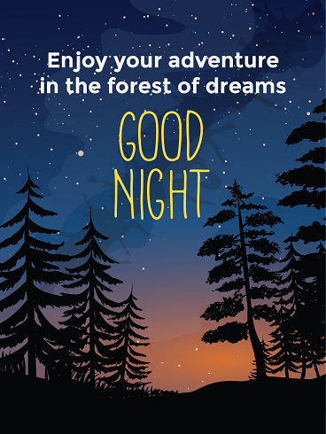 Magnificent Night – Good Night Cards