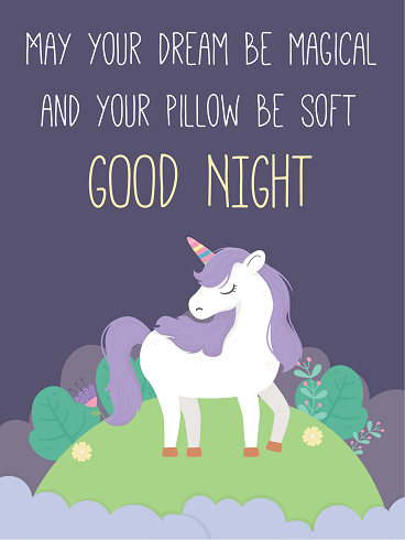 Night & Unicorn – Good Night Cards