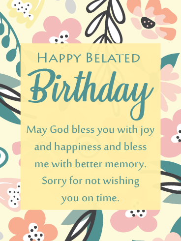 Flower Memory – Happy Belated Birthday Cards