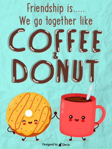 Donut & Coffee – Friendship Cards