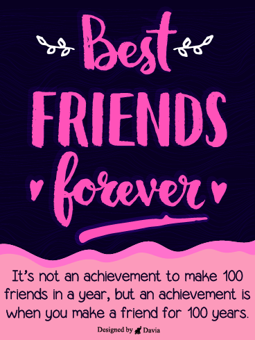 100 Years Friend – Friendship Cards