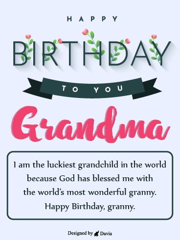 Luckiest Grandma – Happy Birthday Grandmother Cards